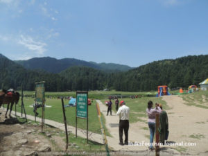 Khajjiar walkway to the lake